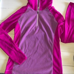 Columbia pink and purple lightweight fleece
